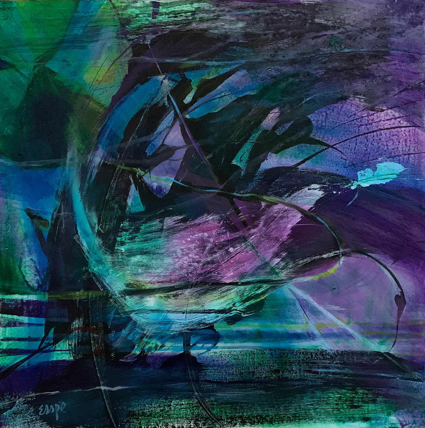 Underwater abstract painting