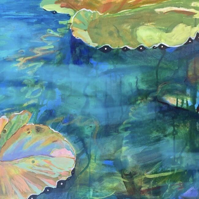 Painting by Sylvie Peltier